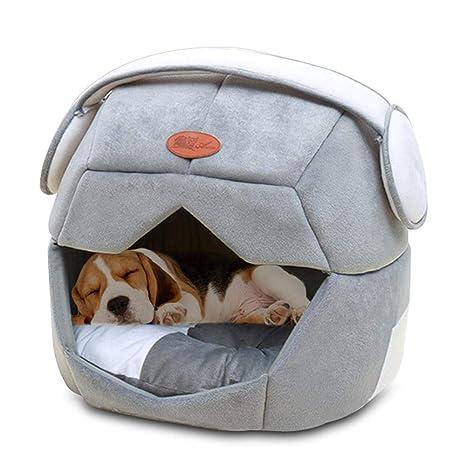 KOBWA - Cama para Gato o Perro, Lavable, para Mascotas, con Espacio cálido