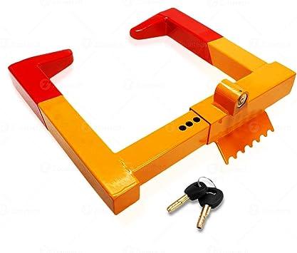 COOCHEER Heavy-duty Car Tire Wheel Lock Anti-theft Lock Wheel Clamp Lock with 2 Keys