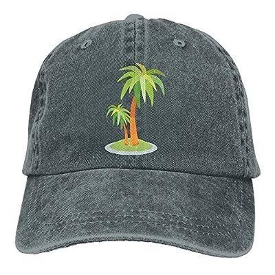 HNE&NQA Sports Denim Cap Palm Trees Women Snapback Caps Adjustable Plain Cap
