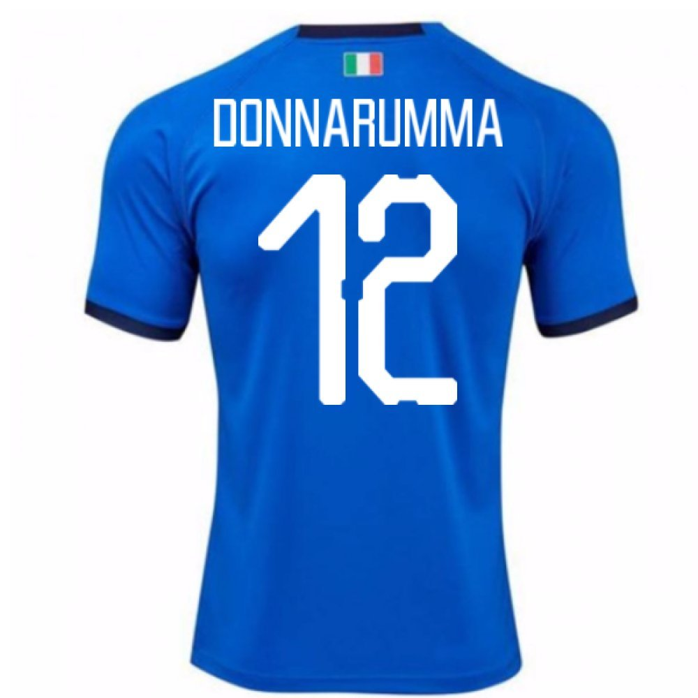 2018-19 Italy Home Shirt (Donnarumma 12) B07CJPV69FBlue Small Adults