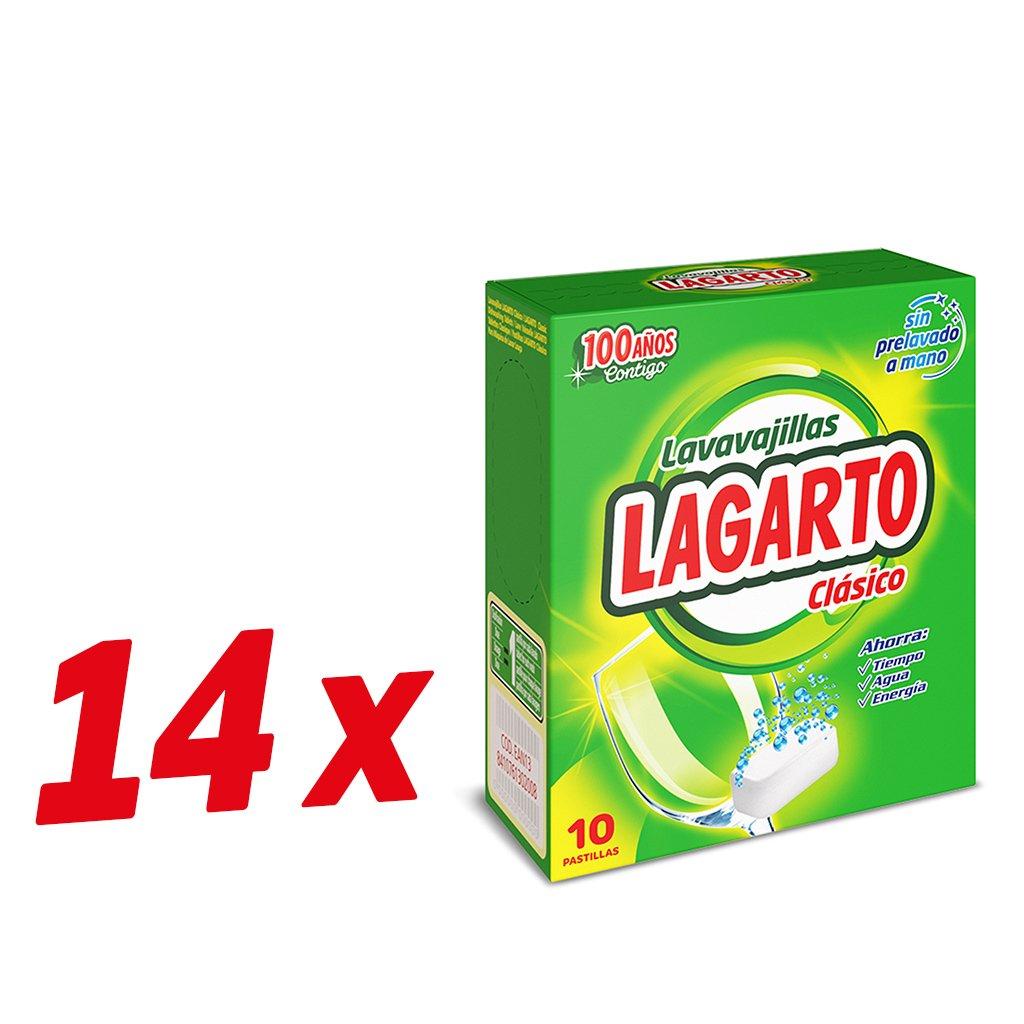 Lagarto Lavavajillas Maquina - Classico - Paquete de 14 x 10 ...