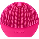 FOREO LUNA Play Plus, Portable Facial Cleansing Brush, Fuchsia, Replaceable Battery and Waterproof Skin Care Device