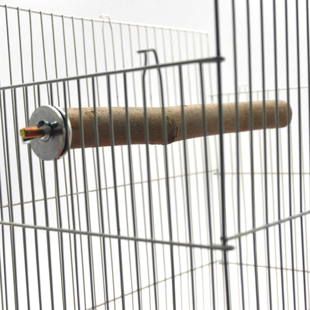 Balacoo 3 Piezas de Perchas de pie Perchas de Madera Natural Perchas de p/ájaros Juguetes de Entrenamiento de Aves Suministros de jaulas de p/ájaros para Loros de h/ámsters Mascotas