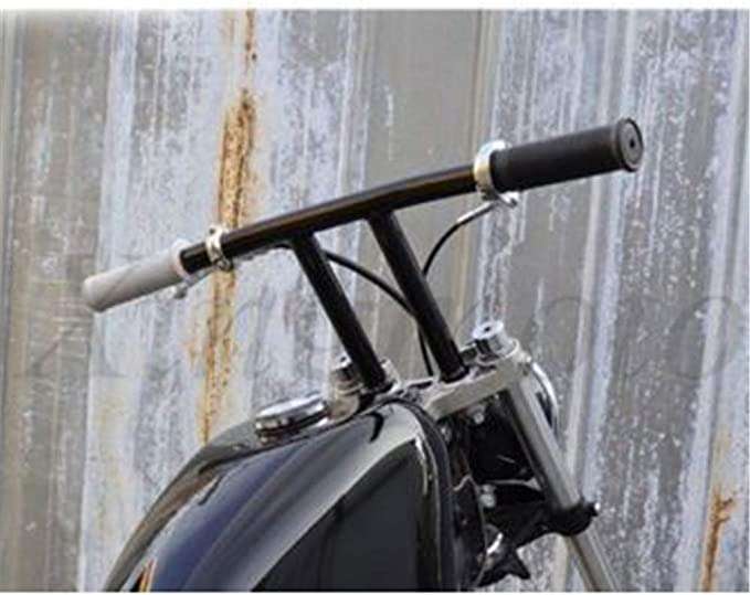 Black 10 Rise T-Bars Handlebar Drag Bar For Compatible with Harley 1996-2017 Sportster Dyna Softail // HB017 NBX Replacement of