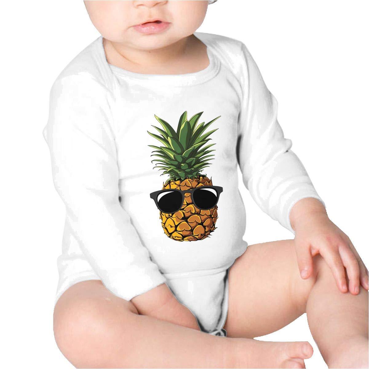 Pikaqiuleilei Pineapple Sunglasses Girls Cotton,Long Sleeve Baby Romper