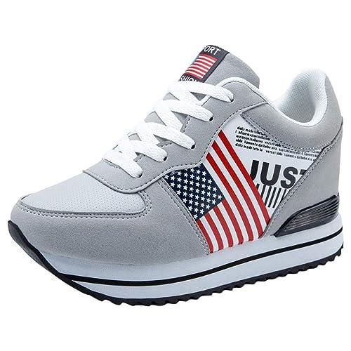 Zapatillas De Deporte Moda para Mujer Tacones Ocultos Plataforma Gruesa Mocasines Zapatillas De Deporte Zapatos: Amazon.es: Zapatos y complementos