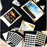 24 Pcs/Sheet Picture Corner Stickers Scrapbooking Craft Paper Polariod Decorative Photo Album Calender Wall Refrigerator Sticker^Gold.