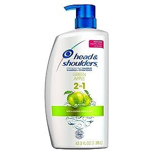 Head & Shoulder Green Apple Shampoo + Conditioner 2 In 1 (43.3 Fl Oz),