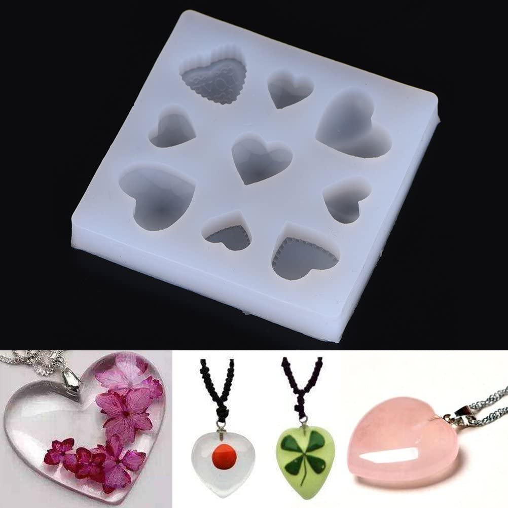 ARRIVEOK 3D Resin Silicone Moulds LOVE//HOME//FAMILY Letters Crystal Mold DIY Crafts Casting Heart Shape Jewelry Making Molds Home Decoration