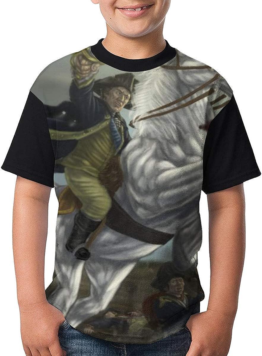 091 George Washington Teens Short Sleeve Boys Crew Neck T-Shirt Fashion Casual Sportstop