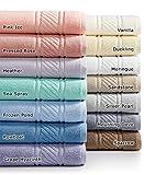Martha Stewart Collection 100% Cotton Spa Bath Towel Collection (Frozen Pond)