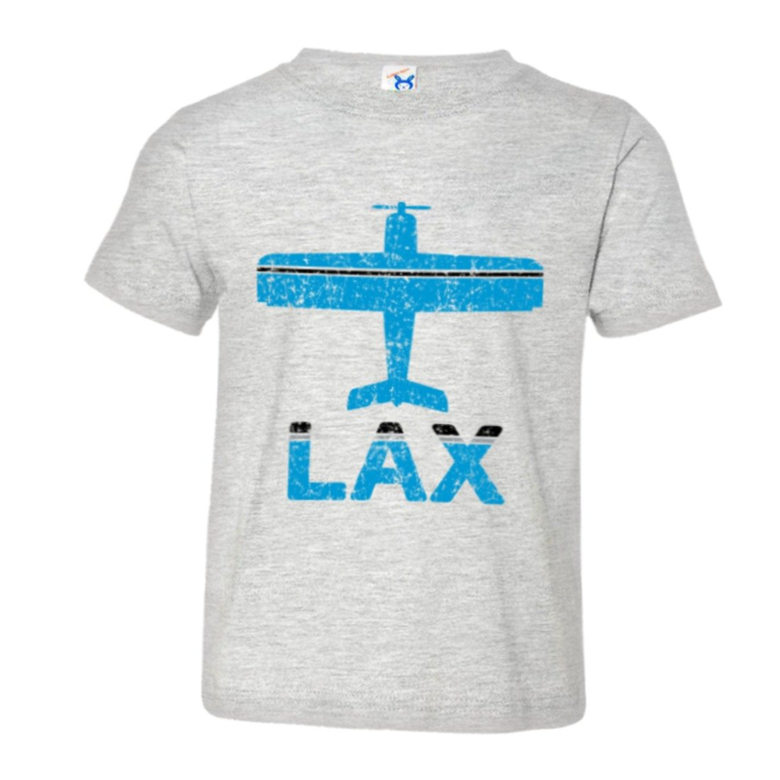 Toddler Vintage Airplane Airport Fly Lax Los Angeles HQ Tee Shirt