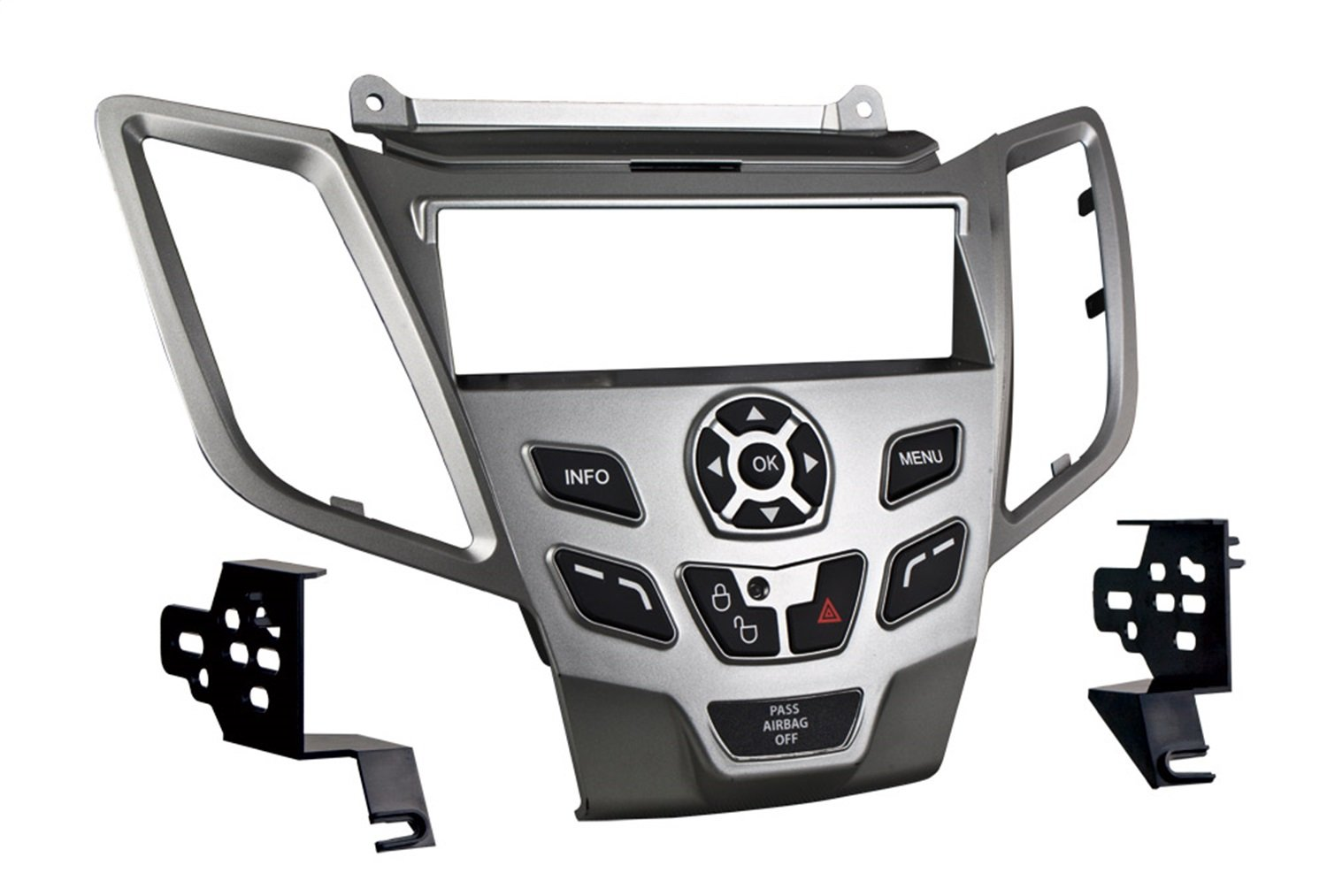 Metra 99-5825S Single DIN Dash Installation Kit for 2010-Up Ford Fiesta Vehicles (Silver)