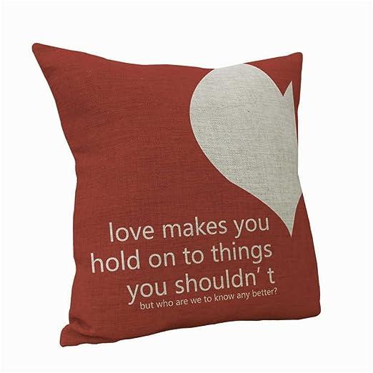 SWHH en forma de corazón amor patrón Throw Funda De Almohada ...