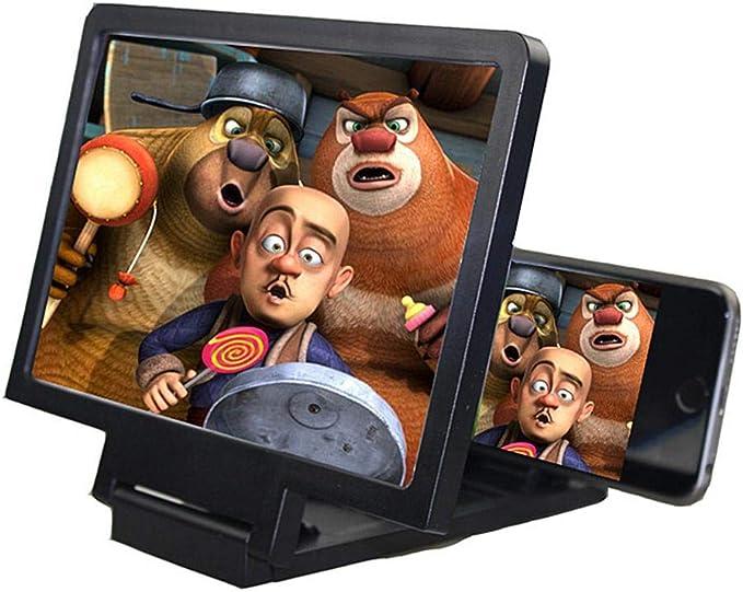 DokFin HD Smartphone Lupa, Amplificador de Pantalla 3D, Película Video E-Book Ampliador Teléfono Soporte Soporte Soporte Pantalla del teléfono móvil Agrandar Lupa (antirradiación): Amazon.es: Electrónica
