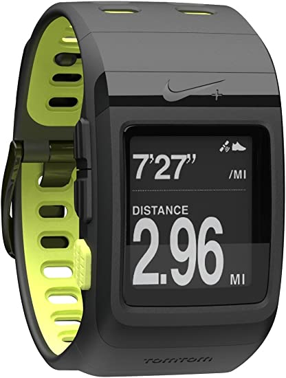 Derribar zona Pack para poner  Amazon.com : Nike+ SportWatch GPS Powered by TomTom (Black/Volt) : Running  Gps Units : GPS & Navigation