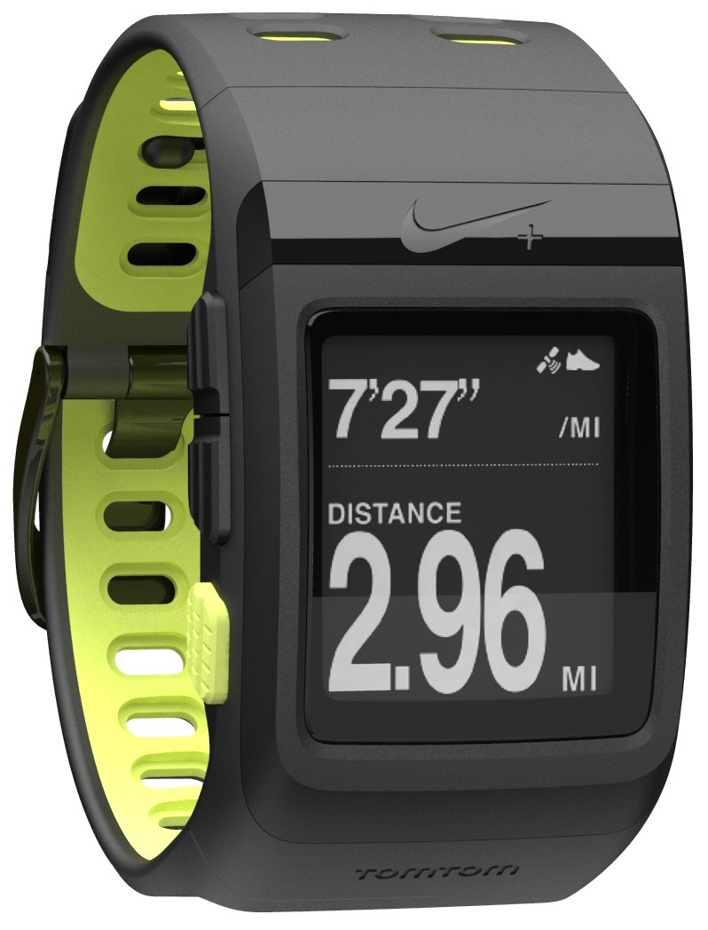 Nike+ SportWatch GPS Powered by TomTom (Black/Volt) by NIKE
