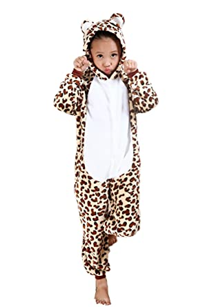 cde7a98dd3 Amazon.com  Vimans Unisex Onesie Pajamas for Children Christmas Leopard  Bear Sleepwear  Clothing