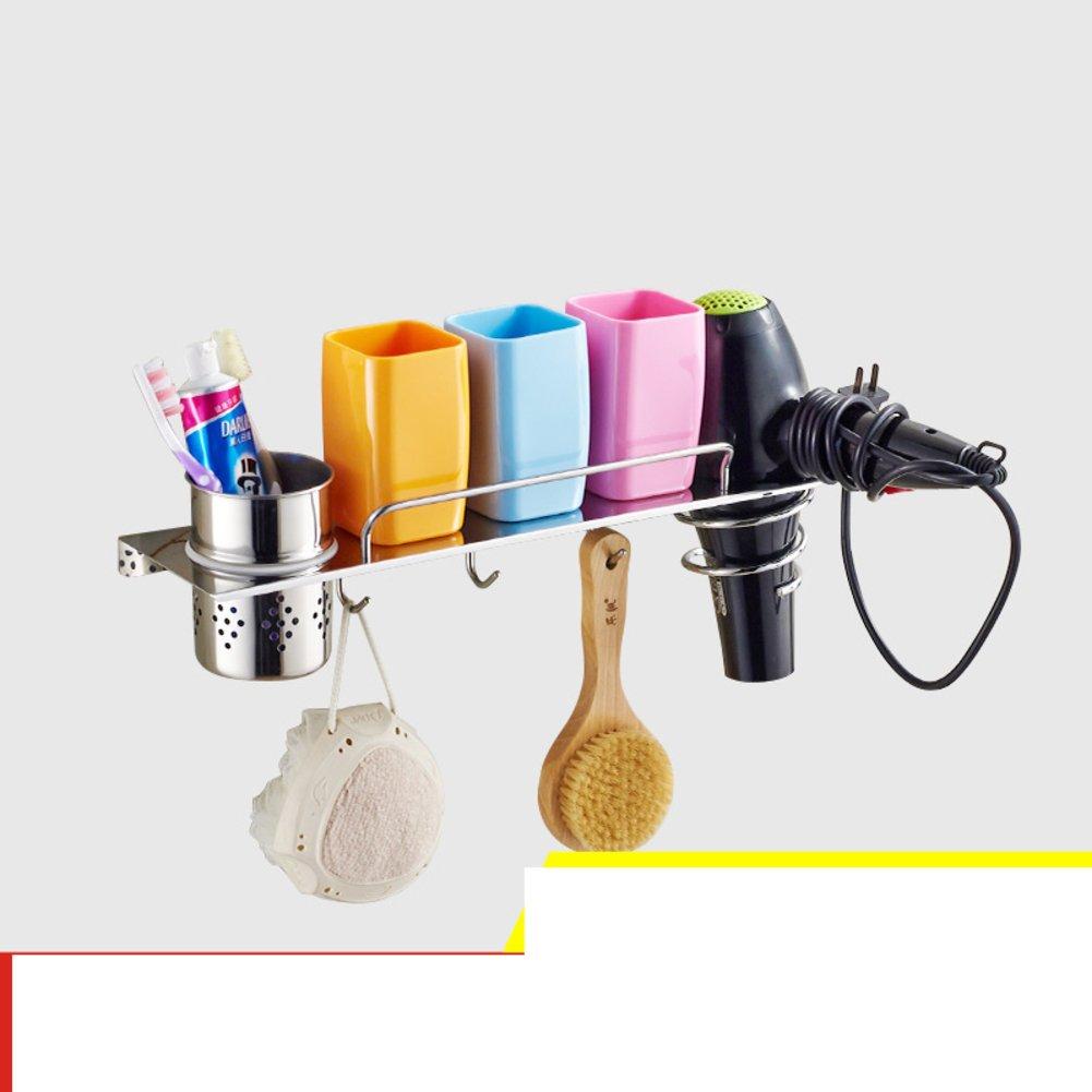 Hair Dryer Holder,Hair Dryer Shelf,Hair Blow Dryer Holder, stainless steel hair dryer rack toilet Bathroom storage rack Wall-mounted Storage cartridge-C SDAFASFS