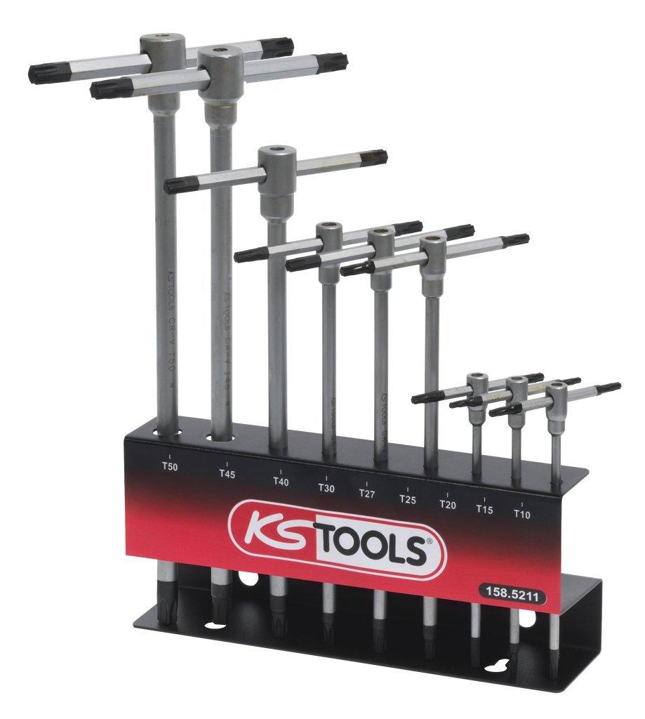KS Tools 158.5211/Verkaufsst/änder f/ür 9/Schl/üssel Torx T-Handle//9-teilig