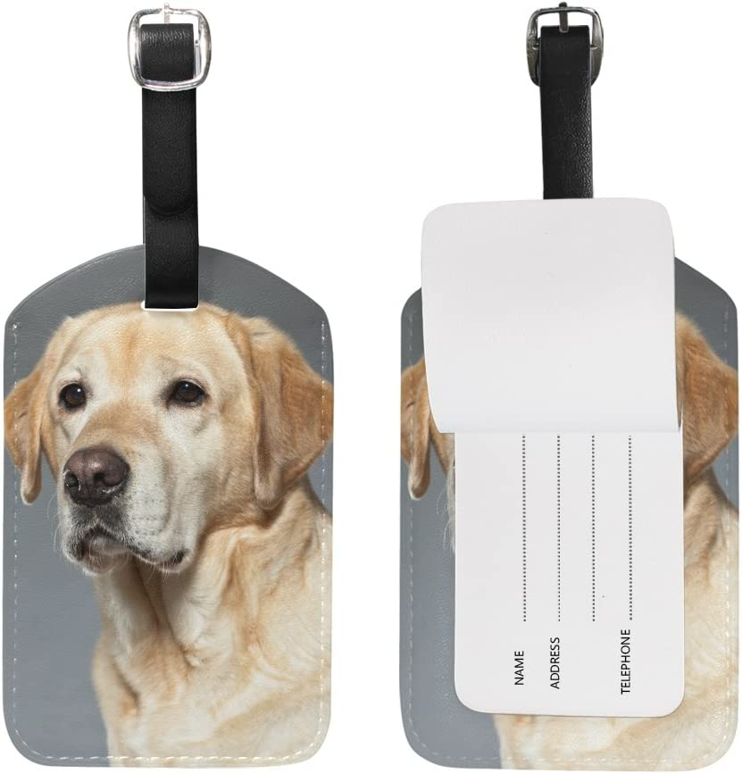 Labrador Retriever Genuine Leather Cowhide Luggage Tag Dog Tag Perfect Gift for Dog Lover