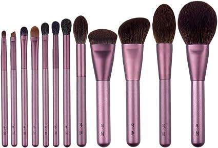 LJHA huazhuangshua Brocha para maquillaje, juego de brocha de 12 piezas que incluye el pincel para maquillaje facial Blending Eyeliner Face Powder y una variedad de otros pinceles junto con un estuche: