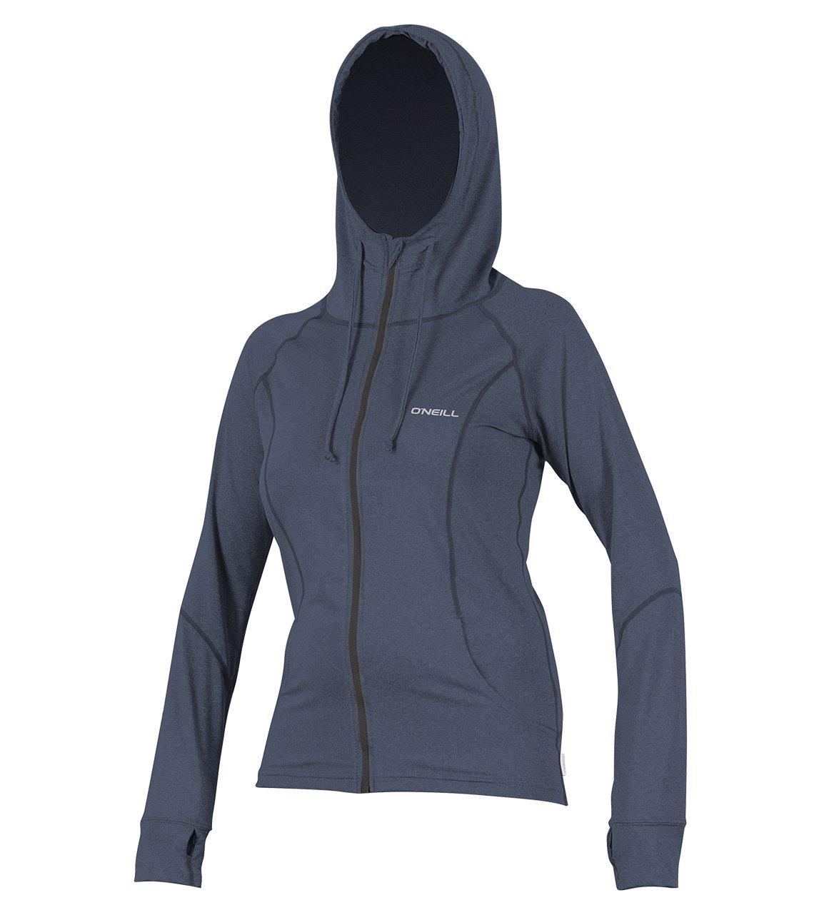 O'Neill Women's Hybrid UPF 50+ Long Sleeve Full Zip Sun Hoodie, Mist, X-Small