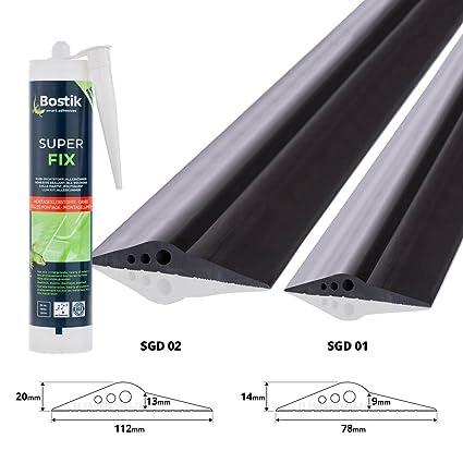 Steigner, protección de goma Cuna, s-583, de color negro, 7 x 11 mm, 1 metro, perfil a u, con Inserto de acero: Amazon.es: Bricolaje y herramientas