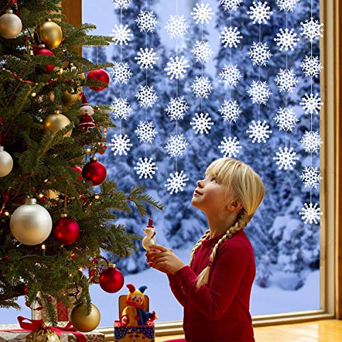 Christmas Decoration, Conthfut 8PCS Snowflake Decorations - Winter Wonderland/Xmas/Holiday Party Supplies