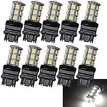 Nuokexin 10x T25 3156 3157 18 SMD 5050 LED Car Auto Stop Brake Tail turn reversing signal light Lights Bulb Lamp (3156)