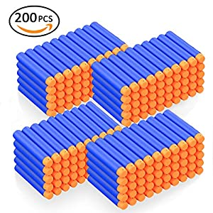 Newisland Refill Darts for Nerf N-Strike Elite Series, 200PCS Bullets Refill Ammo Pack for Zombie Strike Rebelle Blasters Gun