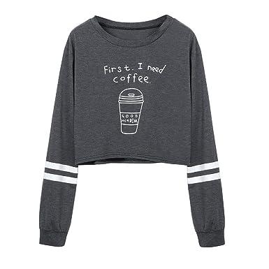 BBsmile Sudaderas Mujer Tumblr Cortas con Capucha - Andrajoso Manga Camiseta Blusas Invierno Otoño Ropa para Adolescentes Chicas: Amazon.es: Ropa y ...