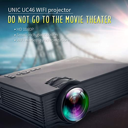LULUKEKE Proyector, UC46 Mini Home Projector, HD Pico Projector ...