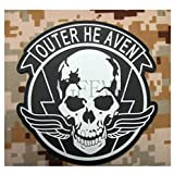 black background white design Metal Gear Solid MGS OUTER HEAVEN PMC pecial Force Group Tactical Morale3D PVC Velcro Patch
