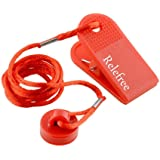 Relefree Universal Treadmill safety key - Sports Running Machine Safety Safe Key Treadmill Magnetic Security Round Switch Lock Fitness Red Useful New