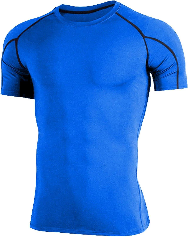 Kompressionsshirt Herren Sportshirt Laufshirt Kurzarm Atmungsaktiv Gym Quick-Dry