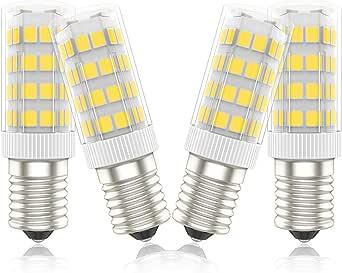 Phoenix-Bombillas LED E14 Campana Extractora,Bombilla Frigorifico 5W, 40W Halógena Equivalente, Blanco Cálido 3000K,450lm, Pack de 4 Unidades: Amazon.es: Iluminación