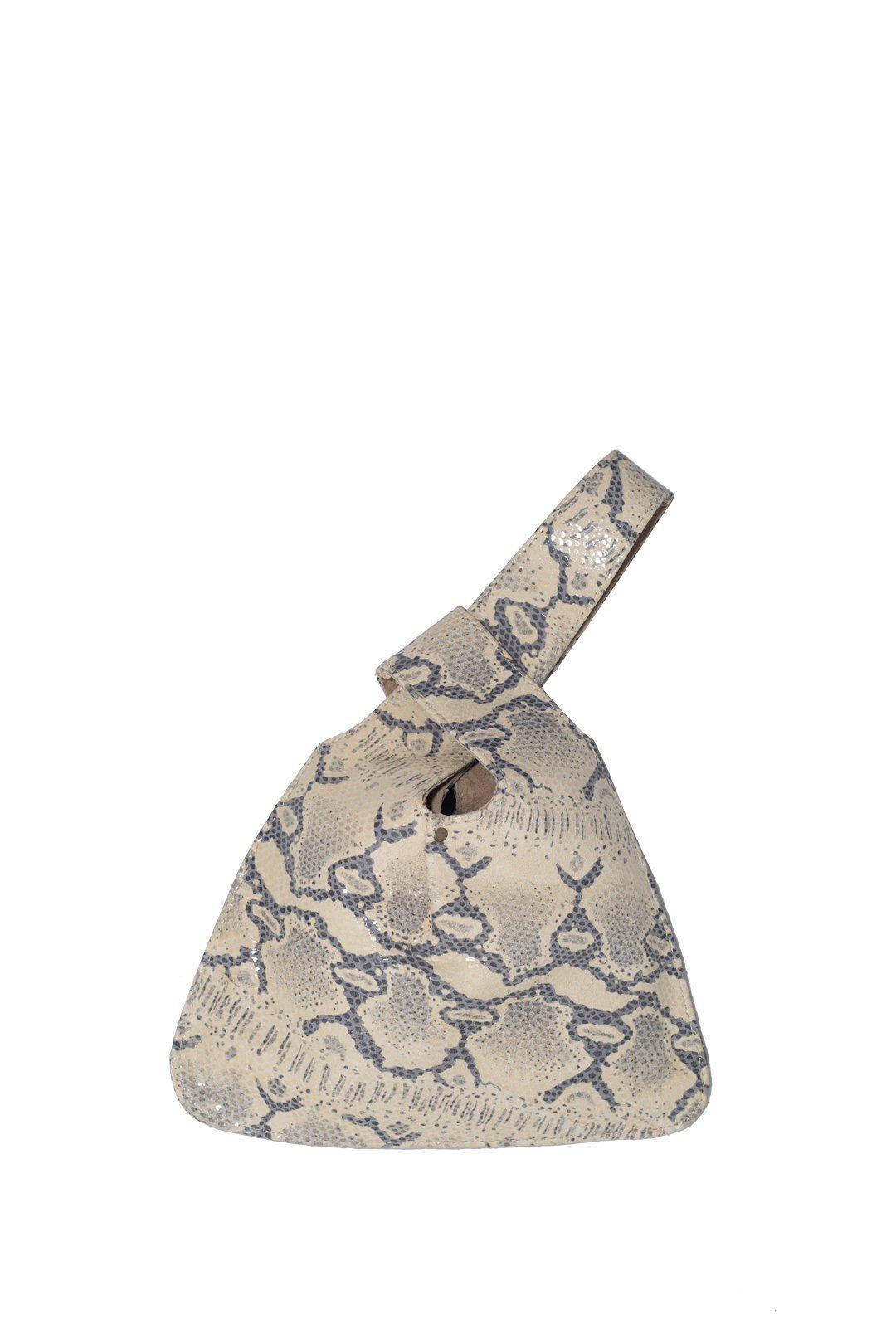 Lily and Lola Baby Jane Wrislet Bag in Ice Snake Print Lamb Leather