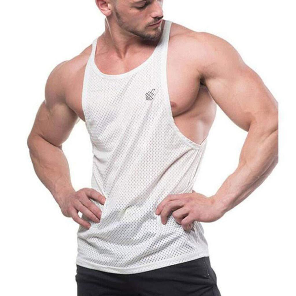 Men HEAVY WEIGHT Crew neck T-Shirt Sleeveless Muscle Tank Hip Hop Gym Big /& Tall
