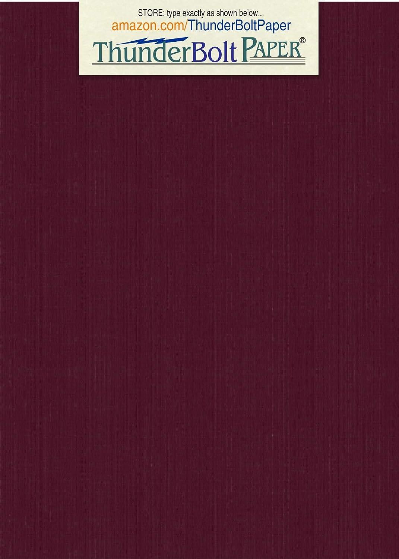 100枚 ダークバーガンディリネン 80# カバーペーパーシート – 4.5 X 6.5インチ 写真挿入 招待カード サイズ – 80ポンド/ポンド カード重量 – ファインリネンのテクスチャ仕上げ – ディープ染色品質カードストック。 B01JH9A9M8