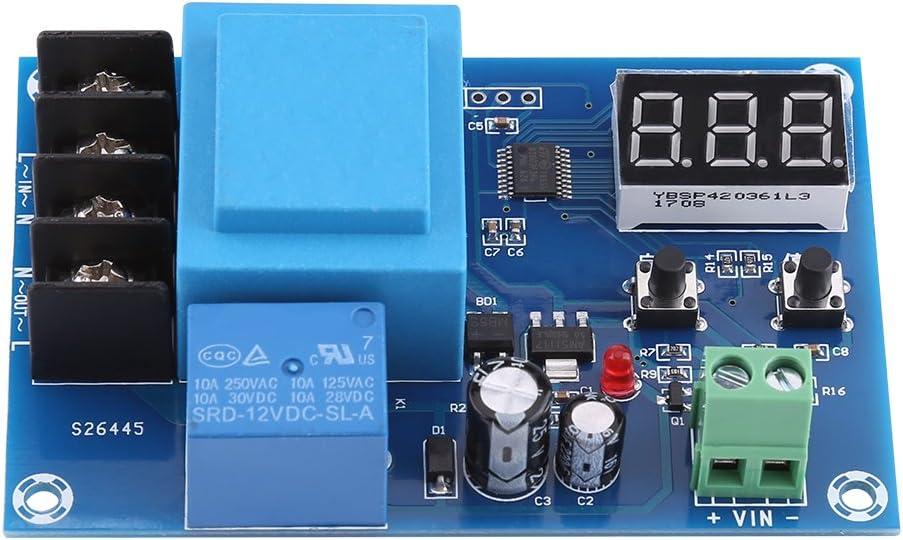 220V Módulo de Control de Carga de Baterías Controlador de Carga de Baterías Junta de Protección de Baterías para Batería de Plomo y Paterías de Litio