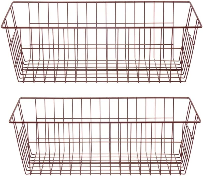 blitzlabs Farmhouse Kitchen Decor, Storage Bins with Handles, Food Storage for Kitchen Cabinets, Pantry, Closet, Bedroom, Bathroom, Office, Set of 2, Deep Chrome