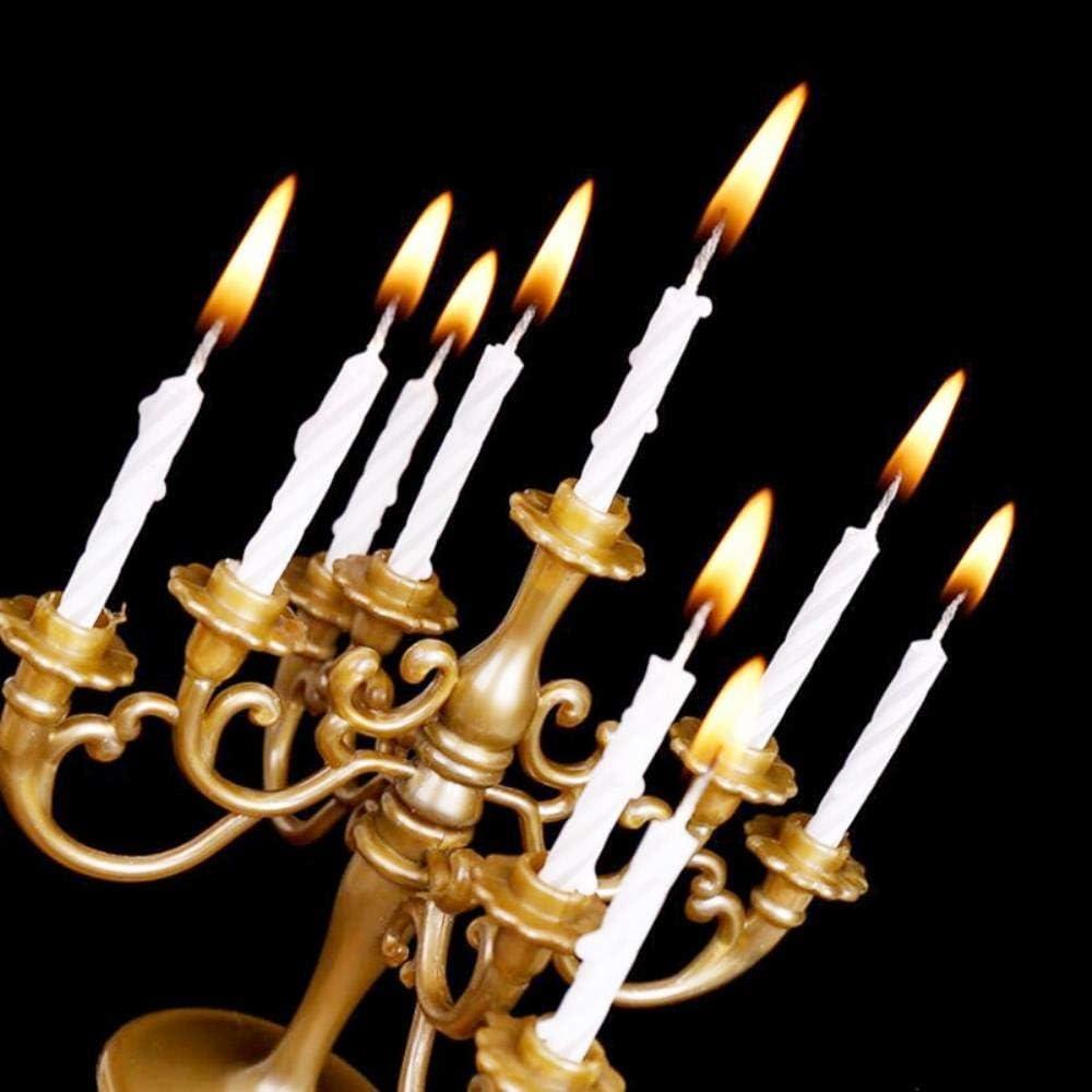 LinZX Bougies et Supports Support 1 Jeu Forme de g/âteau de f/ête danniversaire G/âteau Toppers Candlestick D/écoration Enfants,Golden