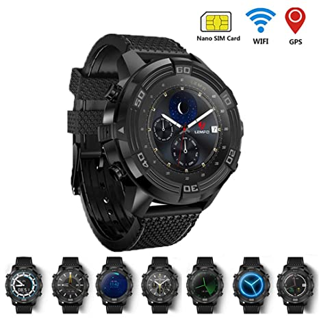 SMARTGOOD Smart Watch para Hombres Android 5.1 Watch Phone IP67 ...