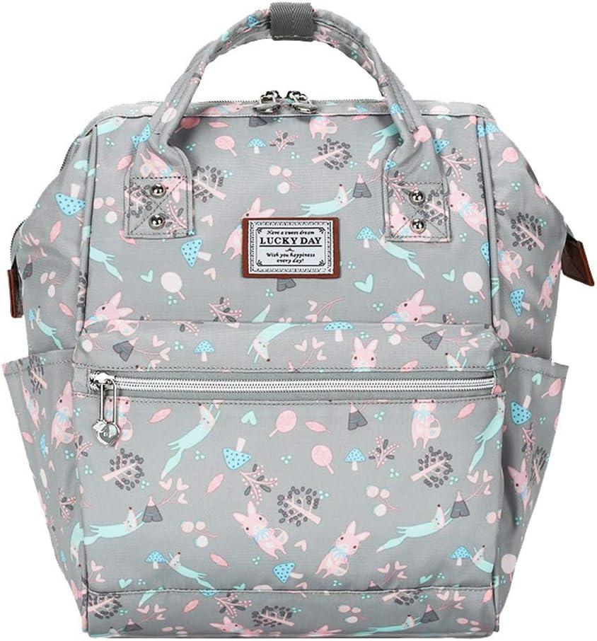 CJH Backpack Bag Female High School Student Bag Fashion Leisure Travel Bag Backpack Light Gray