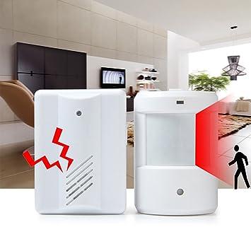 vvbox sistemas de alarma timbre inalámbrico PIR Sensor de movimiento por infrarrojos Detector de alarma sistema de seguridad para el hogar Garaje patrulla ...