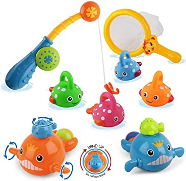 Funny LED Light Up Dolphin Wind Up Swimming Fish Kids Bath Time Play Toys USA