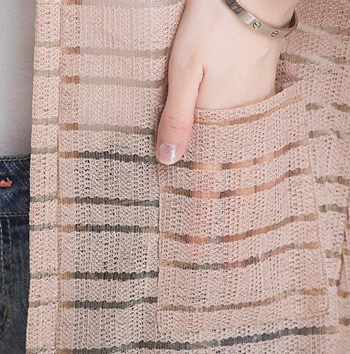 [ジェームズ?スクエア] サマー ニット カーディガン レディース 半袖 UVカット