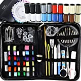 Sewing Kit, Emergency Travel Sewing kit 134 Premium Sewing Supplies with Tread, Sewing Pins, Needles, Tape Measure and Accessories for Kids, Beginners, Adults,Camping