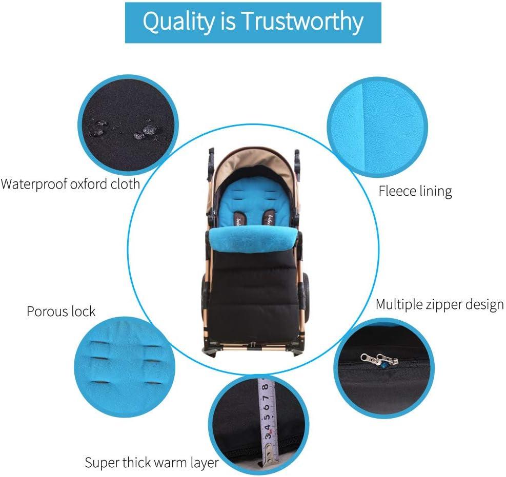 JFBABY Four Seasons Outdoor Stroller Bunting Bag Baby Sleeping Bag Blanket Baby Foot Cover Car Seat Bunting Bag Black